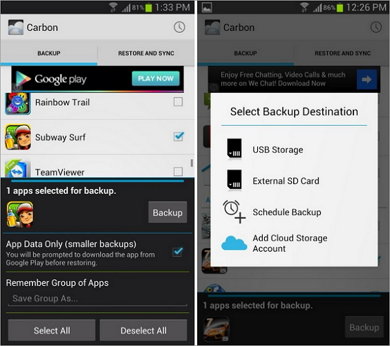 sd card android to backup free
