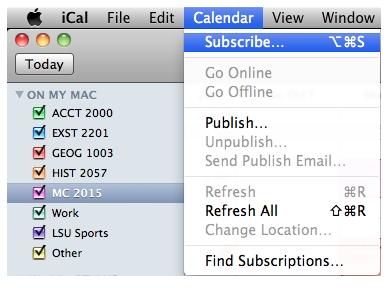Synchroniser iCal avec iphone - étape 1 pour synchroniser iCal avec d'autres utilisateurs d'iCal