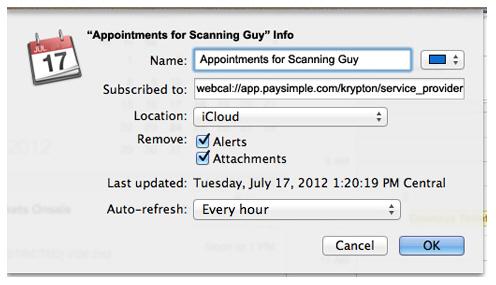 Synchroniser iCal avec iphone - étape 3 pour synchroniser iCal avec d'autres utilisateurs d'iCal