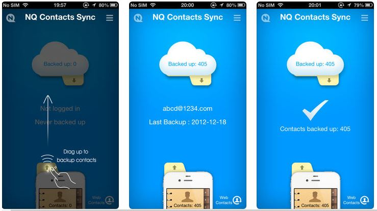 iphone contacts transfer app - nq contacts sync