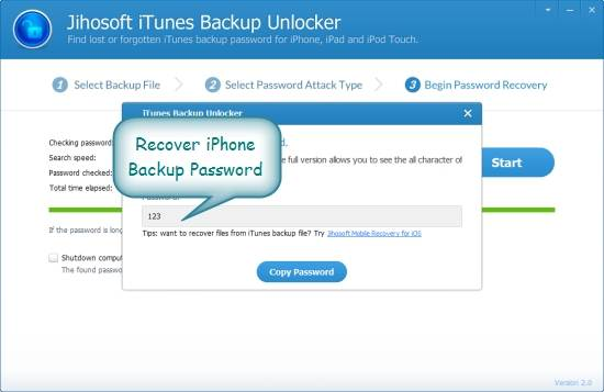 iTunes Backup Password - three decryption method