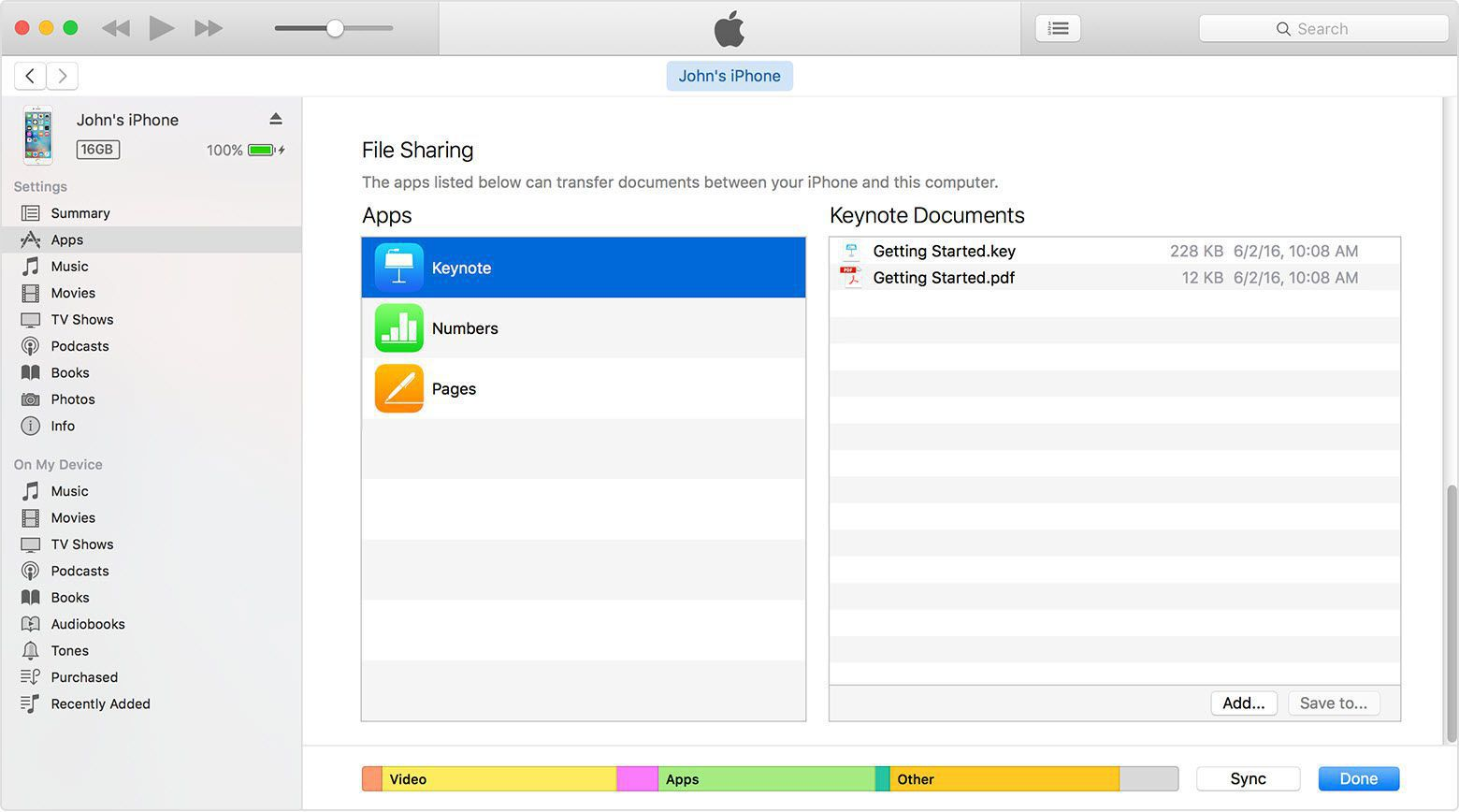 itunes file sharing-idevice-apps