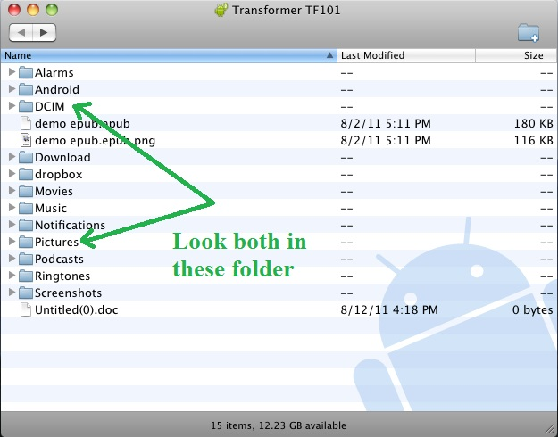 transfert android vers mac