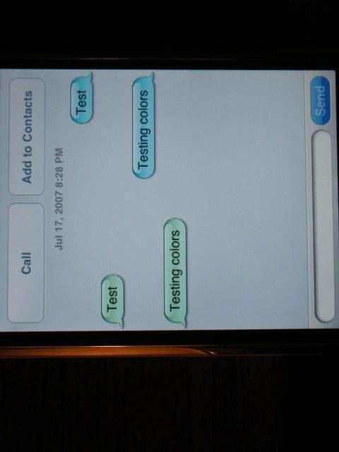 changer texte message iphone