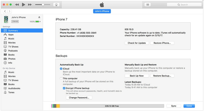 transfer iphone contacts to iphone using itunes backup