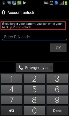 samsung backup pin