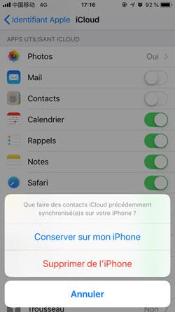 Récupérer contact iphone 06
