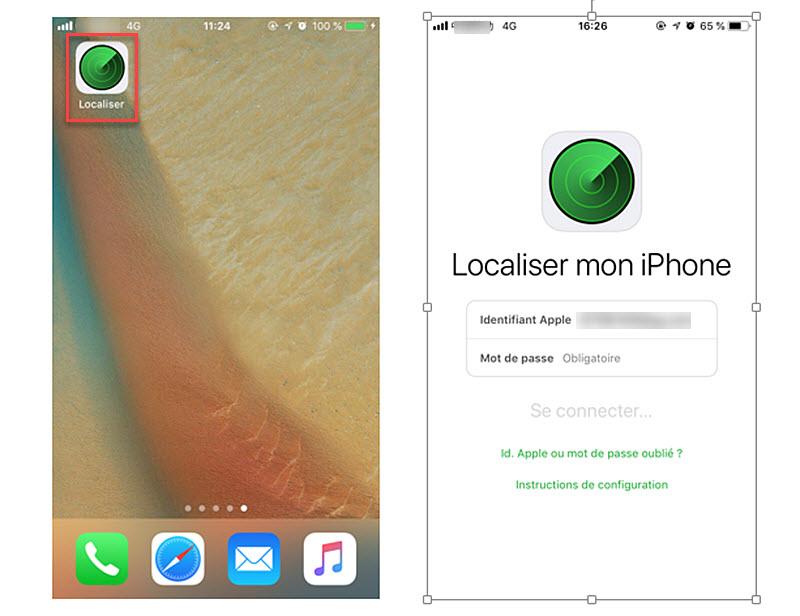deverrouiller iphone avec localiser mon iphone 1