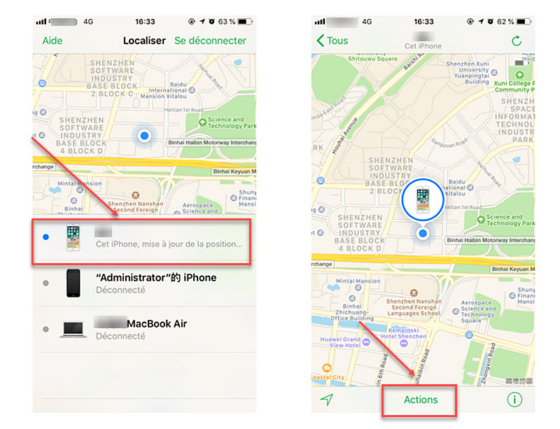 deverrouiller iphone avec localiser mon iphone 2