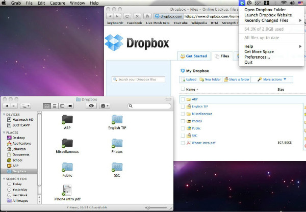 connect android to mac: dropbox