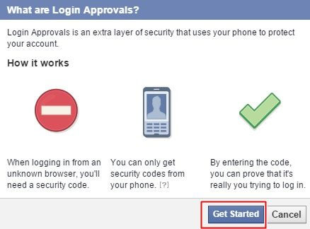 keep privacy secure on facebook - verify in 2 steps