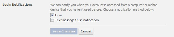 keep privacy secure on facebook - turn on login note