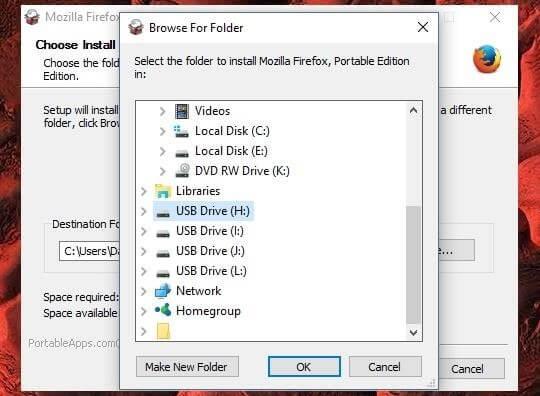 set up Firefox Portable to unblock websites