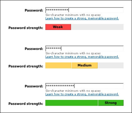 safer password - check password complexity