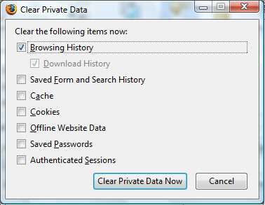keep browser safe - clear browser history