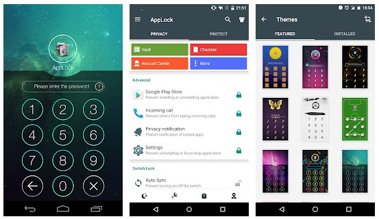 privacy protection on android - applock