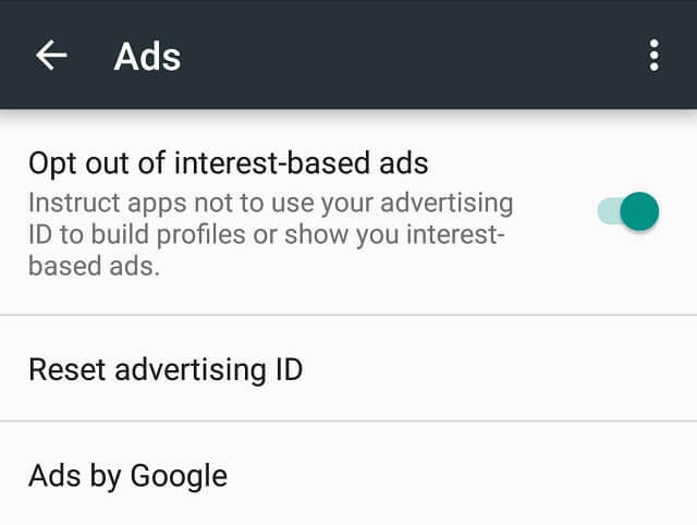 privacy protection on android -google ads