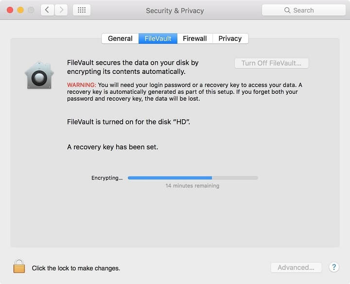 protect mac os privacy - disk encryption