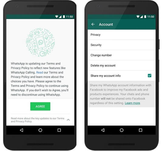 whatsapp privacy protection - no whatsapp sharing on fb
