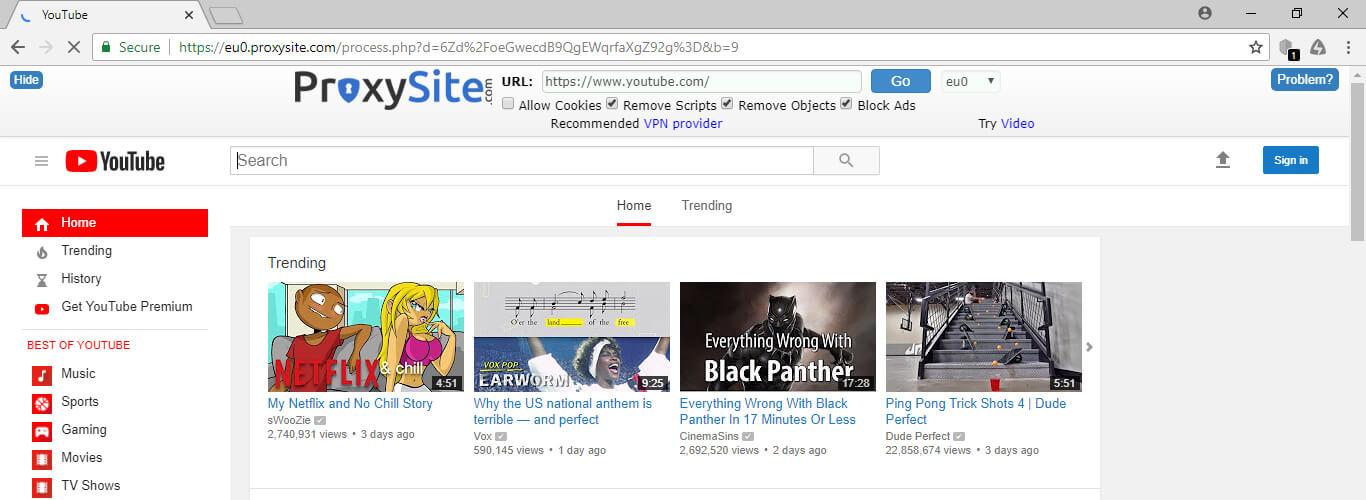 unblock youtube proxy