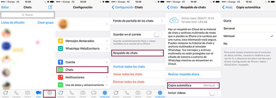 leer conversaciones de whatsapp iphone