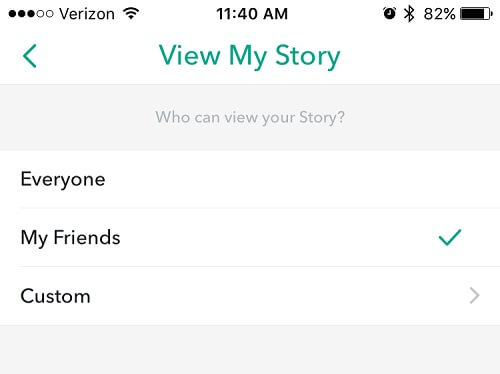 be safe on snapchat - story visibility