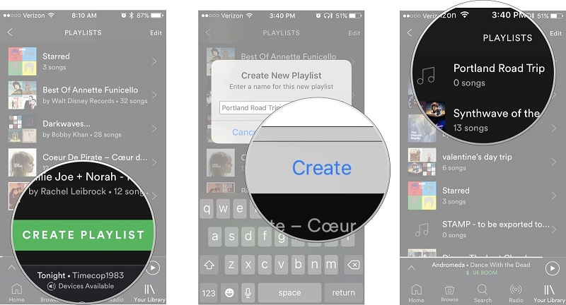 how to transfer music from android to iphone-create a playlist
