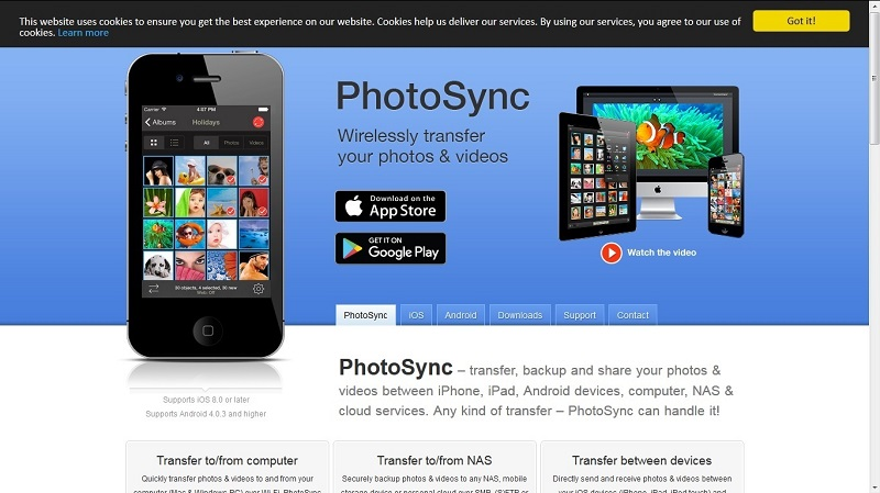 how to transfer photos from android to iphone-PhotoSync