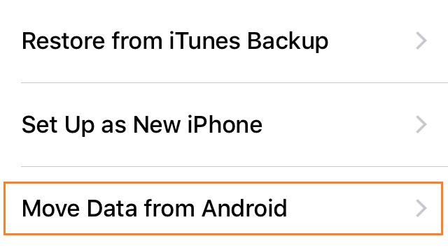 how to transfer photos from android to iphone-move data from android