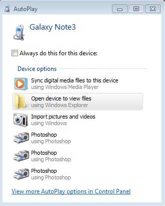 how to transfer photos from android to pc-choose to open the device