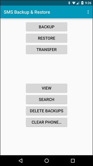 transfer sms from android to android-