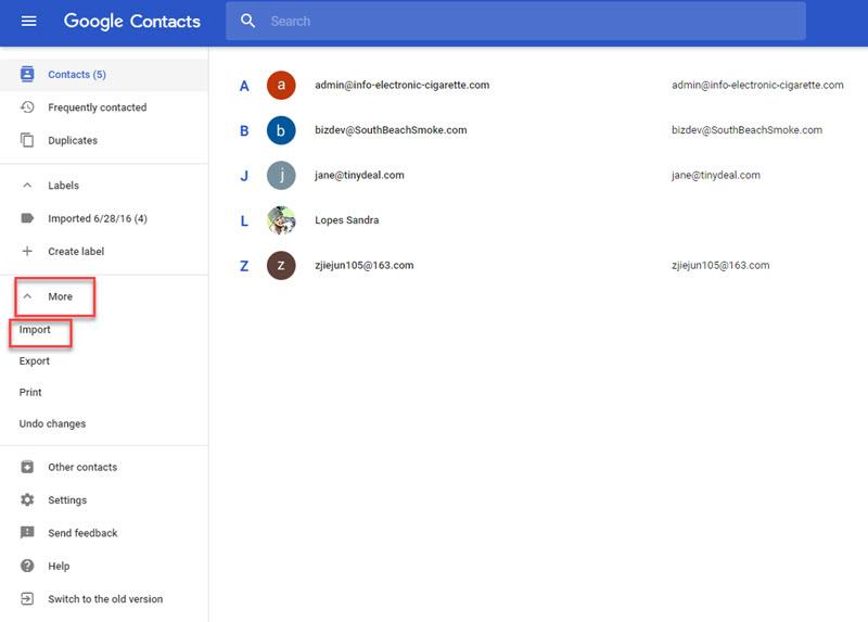 importer contact gmail depuis iPhone en utilisant iTunes
