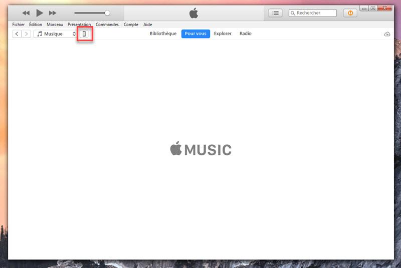 transferer musique pc vers iphone avec iTunes