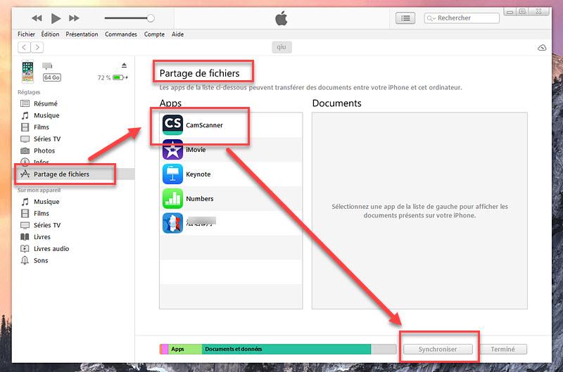 comment transferer photo pc vers iphone avec iTunes