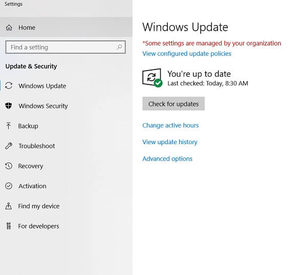 protect privacy on windows - update os