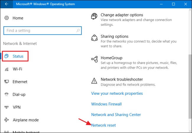 protect privacy on windows - network settings