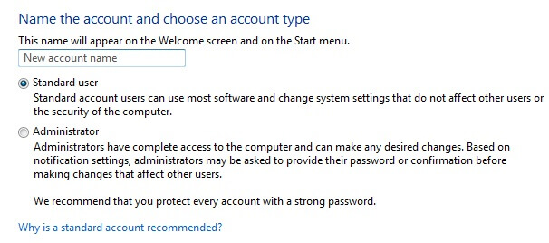 protect privacy on windows - standard user account