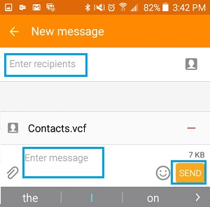 how to transfer contacts from samsung to iphone-email vcf file