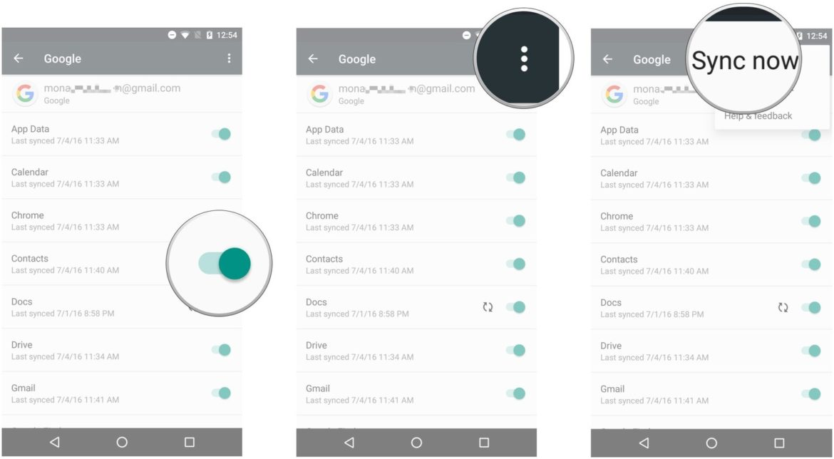 import contacts from gmail to android-import contacts from Google to Android