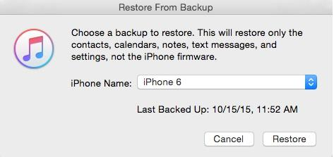 ios 12 data recovery-restore from backup