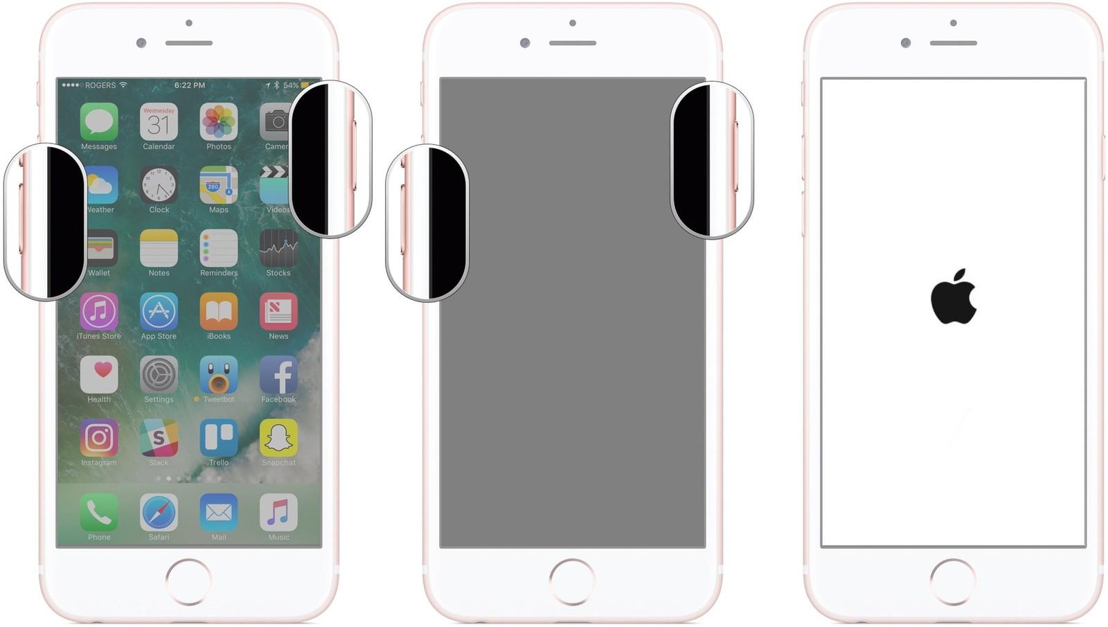 Der iOS12-Downgrade steckt im Wiederherstellungsmodus fest ‒ Zwangsneustart des iPhones 7