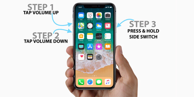 iOS 12 downgrade stuck in dfu mode-force restart iphone x