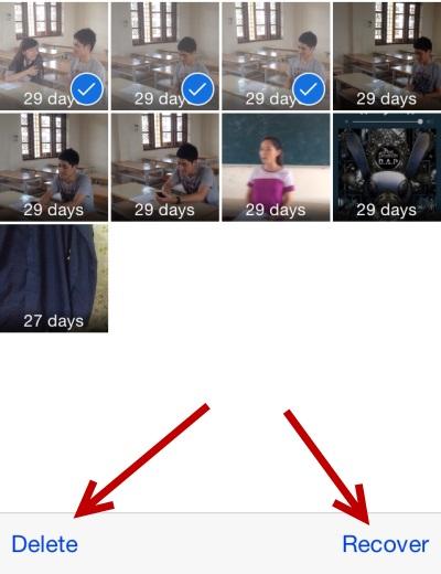 fotos desaparecieron después de actualizar ios 12 -presiona el botón Recuperar