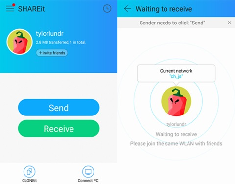 iPhone zu Android Transfer App-SHAREit