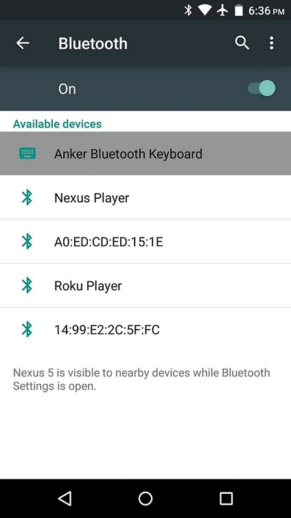 transfer files from android to pc-bluetooth on android