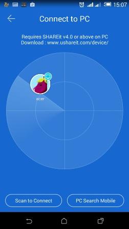 dateien von android auf pc übertragen -shareit verfügbares gerät