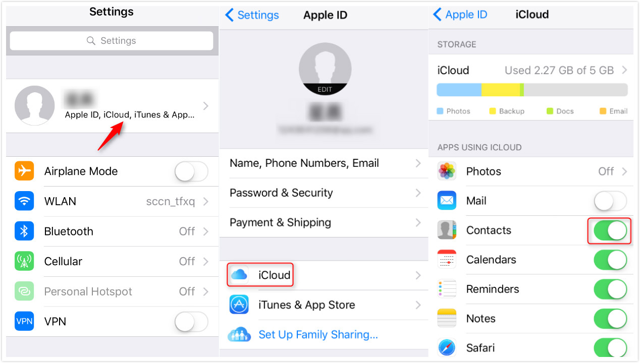 samsung to iphone transfer-enable automatic sync