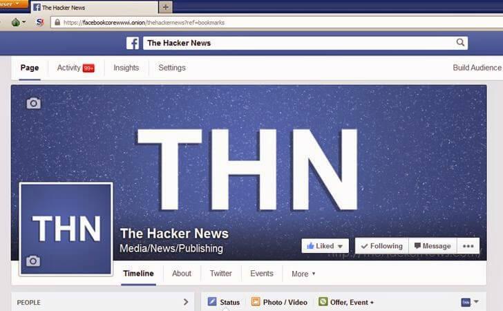 social onion site - facebook onion site