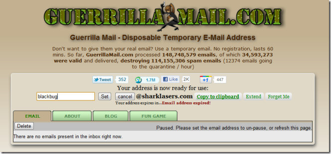 onion email - Guerrilla Mail