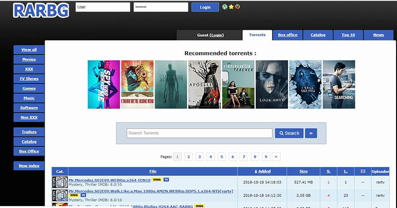 most popular torrent sites - rarbg